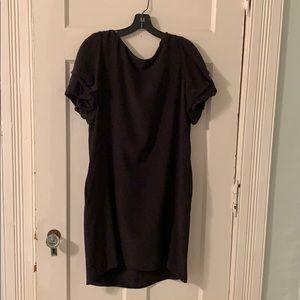 Classic Valentino little black slip dress